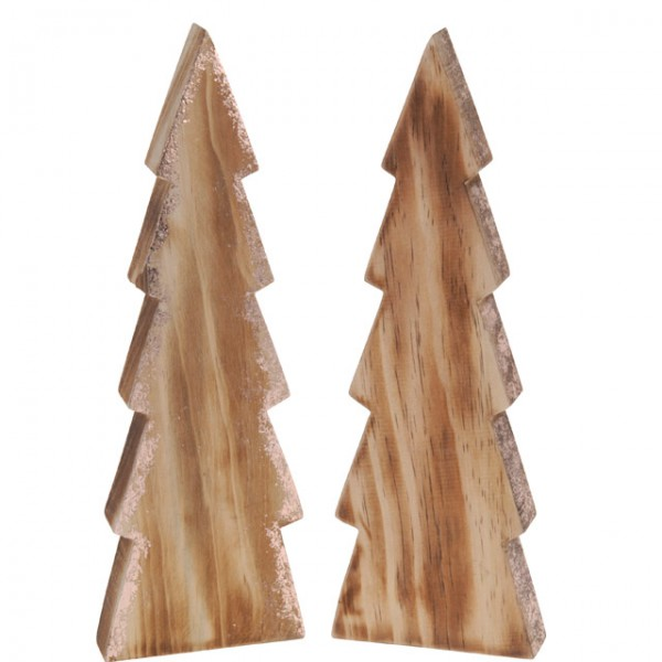 deko weihnachtsbaum 26cm 2 sort holz glitzer schmuck. Black Bedroom Furniture Sets. Home Design Ideas