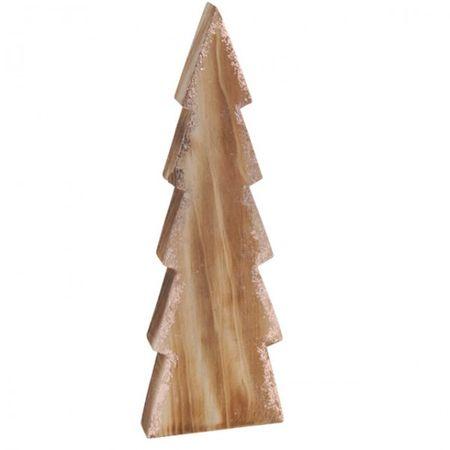 DEKO Weihnachtsbaum 26cm 2 Sort. Holz Glitzer Schmuck Advent Tanne Weihnachten – Bild 3