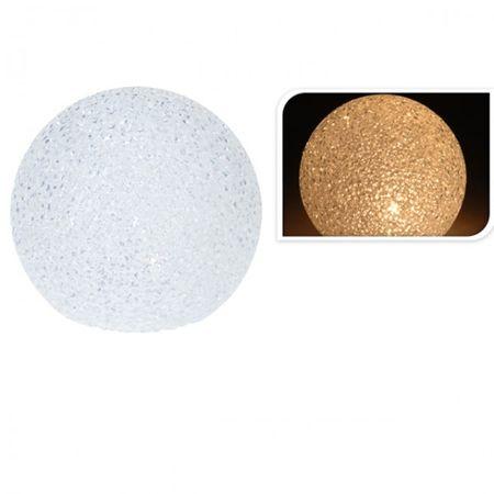 Leuchtkugel 10 cm Durchmesser warm weiss LED Weihnachtskugel dekorativ hell Deko