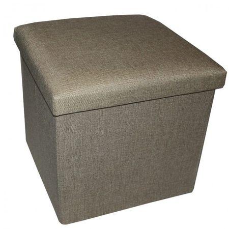 Aufbewahrungsbox zum Sitzen 34x34x33cm faltbar, mit gepolstertem Deckel, 38 L – Bild 3