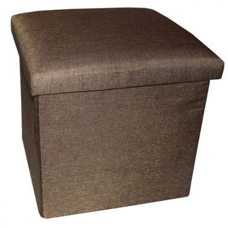Aufbewahrungsbox zum Sitzen 34x34x33cm faltbar, mit gepolstertem Deckel, 38 L – Bild 2
