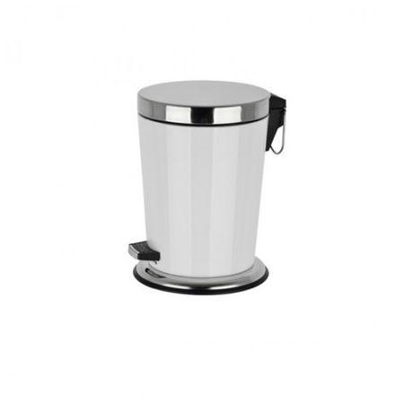 Tretmülleimer 5 Liter Treteimer Kosmetikeimer D:21,5, H:29 cm Abfalleimer Badezimmer – Bild 3