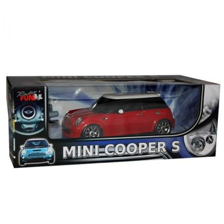 Modellauto Mini Cooper rot/blau 1:24 ferngesteuert RC Spielzeug Kinder ab 6 Jahre – Bild 2