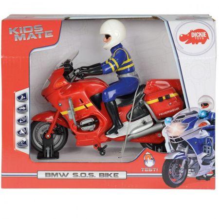 DICKIE BMW SOS Bike Motorrad Licht & Sound 20cm Polizei Feuerwehr Rescue Figur – Bild 2