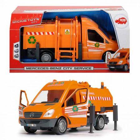 DICKIE Mercedes Benz City Service Müllabfuhr 35 cm Mülltonne Fahrzeug Spielzeug – Bild 1