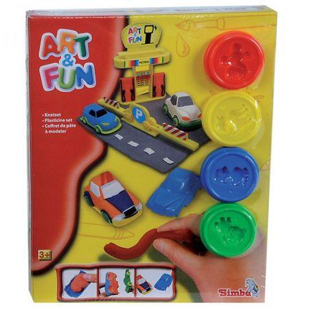 Simba Art & Fun Knete Set Tankstelle Racing Auto Garten Blumen Kinder Spielzeug  – Bild 2