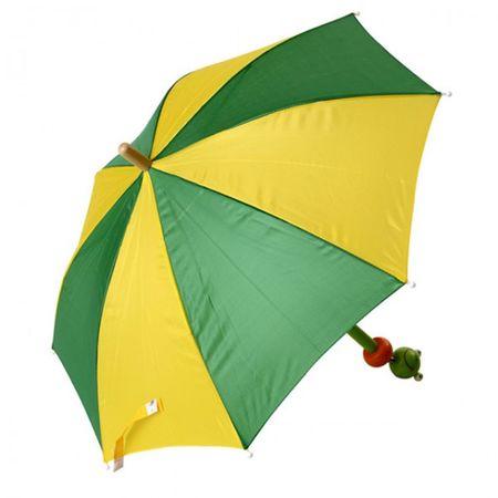 Kinder Regenschirm Frosch Küken Schirm Regen Nass Wasser Trocken Schutz  – Bild 2