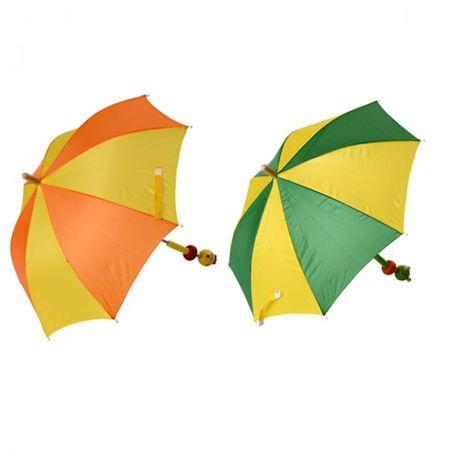 Kinder Regenschirm Frosch Küken Schirm Regen Nass Wasser Trocken Schutz  – Bild 1