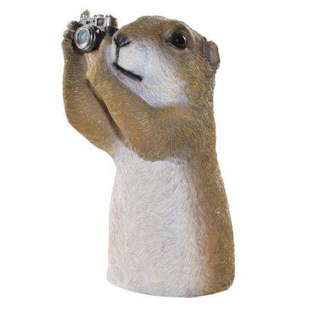 Tiere mit Fernglas oder Fotoapperat 4-fach sortiert Polyresin wetterfest Deko – Bild 5