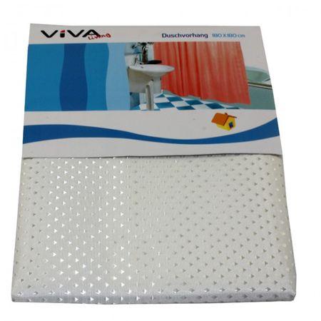 Duschvorhang 180x180 cm Raute Badewanne Abtrennung Schutz Vorhang Bad Badezimmer – Bild 6