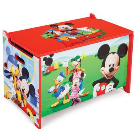 Disney Mickey Mouse Toy Box Spielzeugkiste Holz Truhe Spielzeug Spielzeugbox Truhe