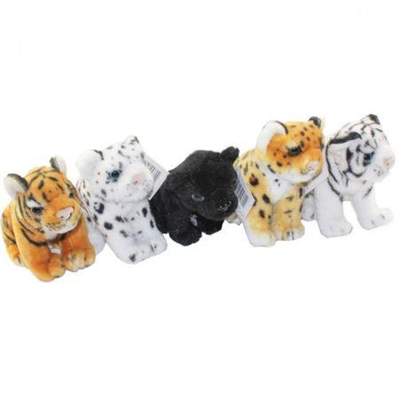 Plüschtier Tiger 16 cm SITZEND Panther Leopard Stofftier Kuscheltier Kinder  – Bild 1