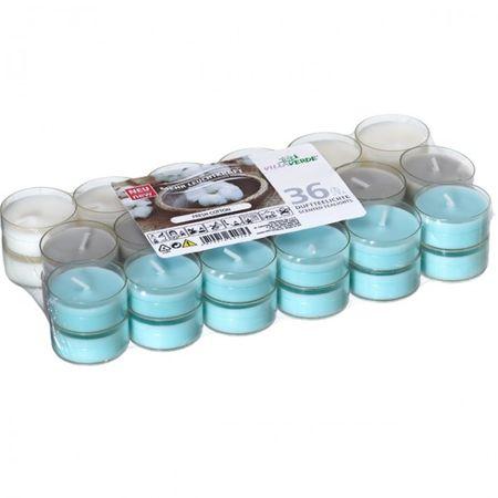 36er Set Villaverde Flatpack Duftteelicht Teelicht Kerze transparente Hülle Deko – Bild 11