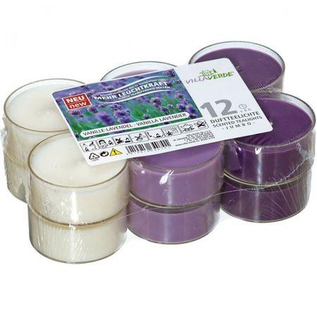 12er Set Villaverde Flatpack Jumbo Duft Teelicht Kerze transparente Hülle Deko – Bild 4