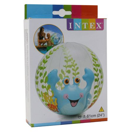 INTEX Aquarium Beach Ball KRABBE Wasserball Strandball pink blau Wasser Pool – Bild 3