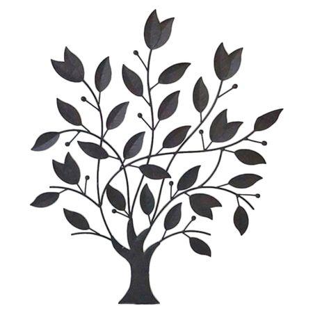 Wanddekor Laubbaum Laubkreis Metall zum Aufhängen Innen Außen Dekoration Garten – Bild 2