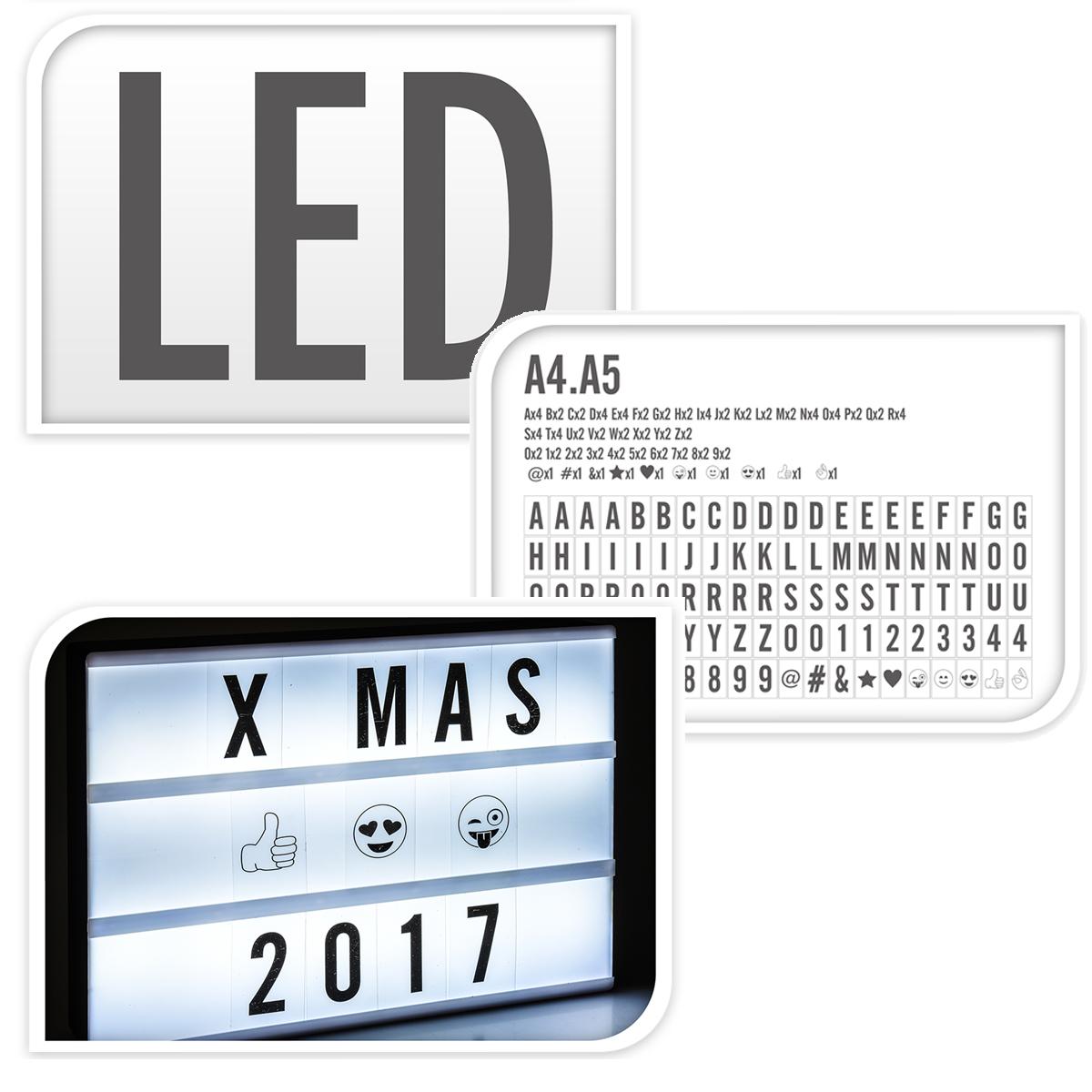 licht light box 12 led lichtbox buchstaben leuchttafel leuchtkasten schild deko beleuchtung. Black Bedroom Furniture Sets. Home Design Ideas