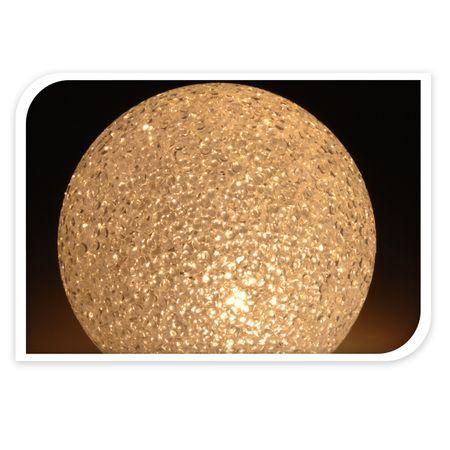 Leuchtkugel Kugel 10/15/18 cm LED warm-weiß Weihnachten Deko Licht Winter rund – Bild 5