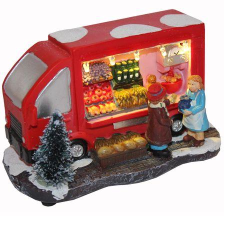 Marktstand LED Beleuchtung Weihnachten Deko Modell Winter Markt – Bild 4