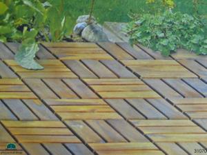 4er Set Holzfliesen 30x30 Terassenfliesen Akazie Holz Hartholz 001