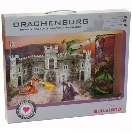 Bullyland 326771 Drachenburg Zauberer Drache Set 2 Figur Fantasy Burg Spielzeug