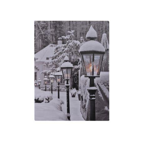 LED Leinwand Bild zum Aufhängen Weihnachten Winter Deko Geschenk Wand Dekoration – Bild 2