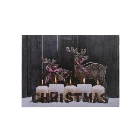 LED Leinwand Bild zum Aufhängen Weihnachten Winter Deko Geschenk Wand Dekoration – Bild 5