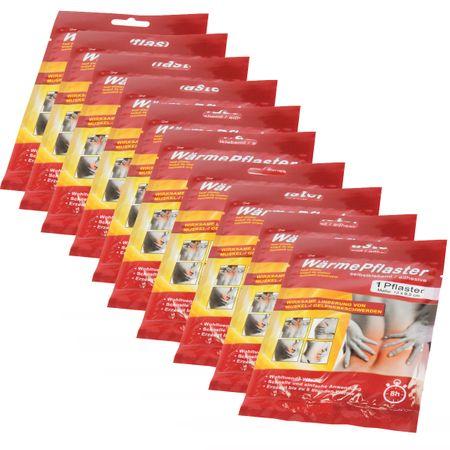 10 Stück Wärmepflaster 13x9,5cm Rücken 8h Körper Wärme Gesundheit Kissen Schmerz – Bild 1
