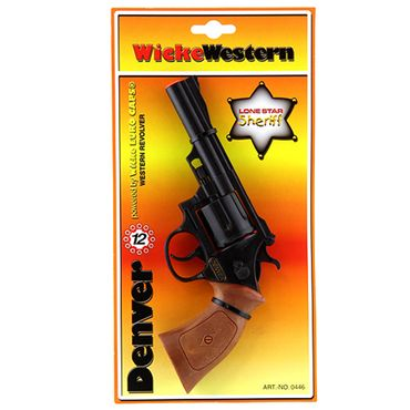 Sohni-Wicke 12-Schuss Western-Pistole Denver Revolver Fasching Karneval Kinder