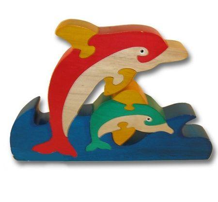 Holzpuzzle Delphine Puzzle Holzspielzeug