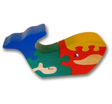 Woodbrix - 3D Holzpuzzle WAL MIT BABY Kinderpuzzle Puzzle Holz Holzspielzeug
