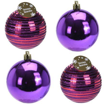 4 er Set Weihnachtskugeln 12 cm diverse Varianten Weihnachten Tannenbaum  – Bild 4