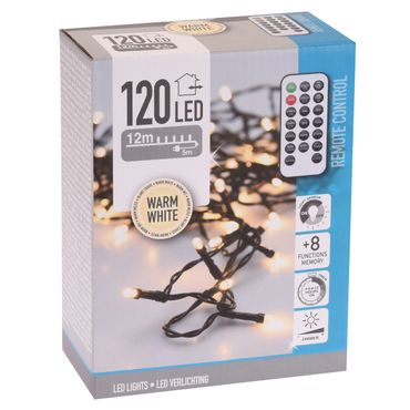 LED Beleuchtung 120 LED Lichterkette Girlande Weihnachten Winter indoor outdoor