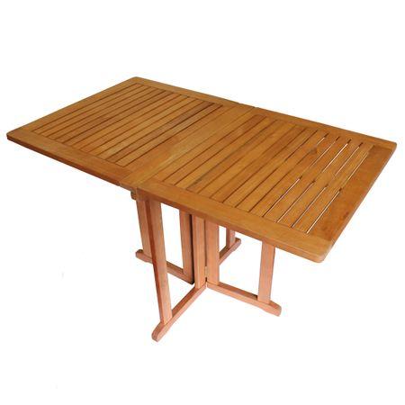 Balkontisch BALTIMORE ECKIG Eukalyptus geölt klappbar Klapptisch Tisch Gartenmöbel Holz – Bild 1