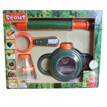 Happy People Scout Super Set Teleskop Kinderlupe Spielzeug Lupe  ohne Spinne