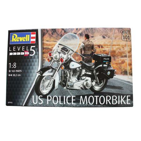 Revell 07915 Modellbausatz US Police Motorbike 1:8 Hobby Motorrad Cop Polizei