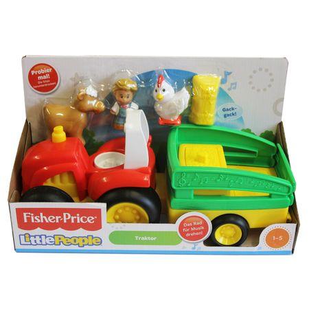 Mattel BJT40 Fisher Price Little People Traktor mit Bauer und Tieren Musik Sound