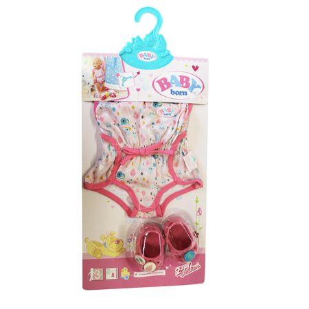 Zapf 824634 BABY born Shorty Pyjama mit Clogs Puppenkleidung Puppenzubehör Puppe
