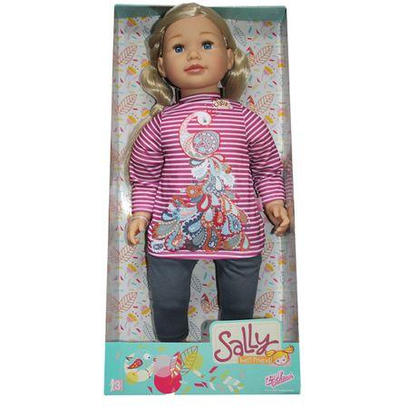 Zapf 877630 Spielpuppe Sally 63 cm Groß Puppe blond Mädchen lange Haare