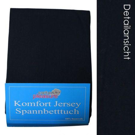 Jersey Spannbettlaken 140x200 dunkelblau 2 Spannbetttuch Betttuch