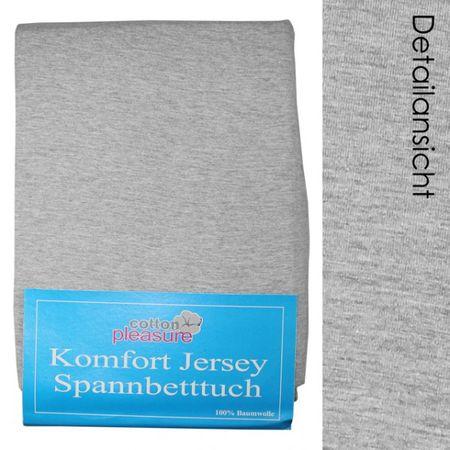 Jersey Spannbettlaken 140x200 hellgrau Spannbetttuch Betttuch