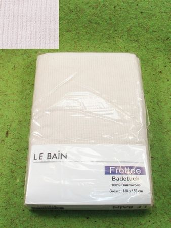 Frottee Badetuch 100x150 LE BAIN weiss 460g/qm Frottee Duschtuch 100x150
