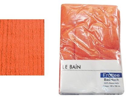 Frottee Badetuch 100x150 LE BAIN orange 460g/qm Frottee Duschtuch 100x150