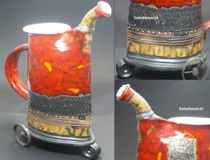 Flasche Vase Kunstkeramik Troja  001