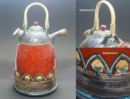 Flasche Vase Kunstkeramik Rhodos