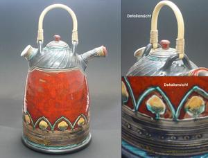 Flasche Vase Kunstkeramik Rhodos  001