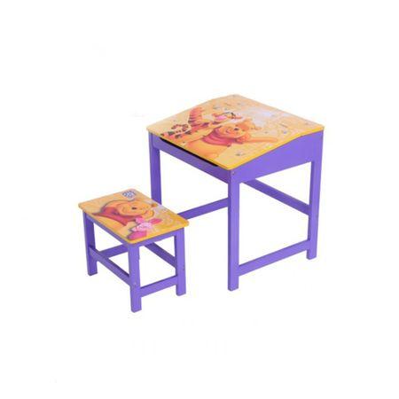 Kinder Schreibtisch mit Hocker Disney Winnie Pooh Maltisch – Bild 1