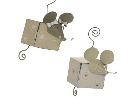 2 Anhänger mit  Box Mäusepaar