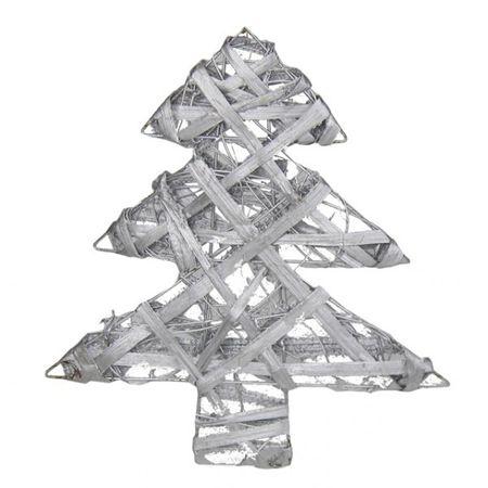 Deko Tannenbaum silber 30cm Weihnachtsbaum Weihnachtsdeko Fenster Fensterdeko