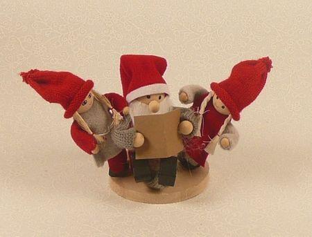 Weihnachtsmann mit Kindern Figur Weihnachten Weihnachtsdeko Weihnachtsfigur